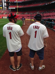 Together, twins Jason and Randy Sklar equal Jose Oquendo's biggest fan