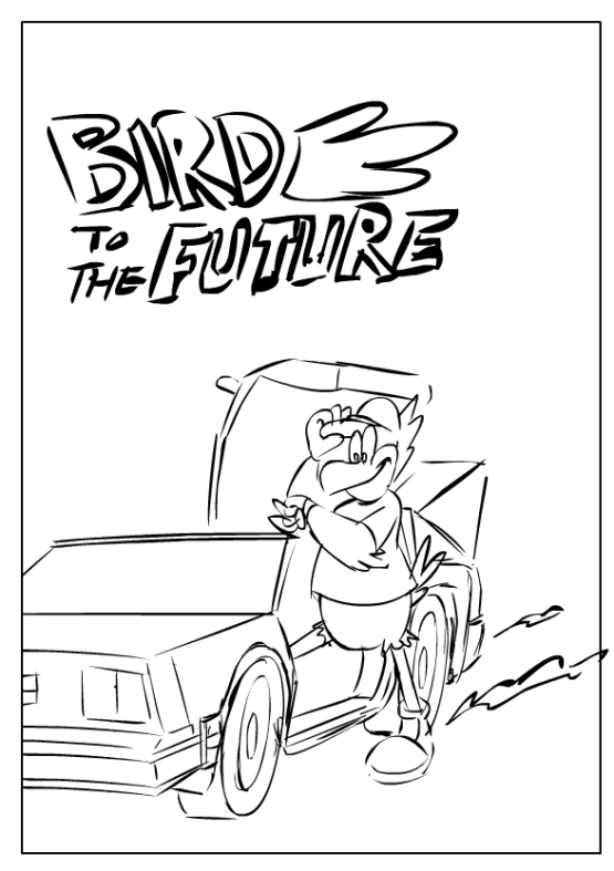 Late fall 2013, Doc proposed doing a mini-movie homage to Back to the Future with the Cardinals.