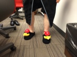 John Rooney shows of his Fredbird Slippers - another amazing prop created by Amy Berra (Assistant Curator of the Museum & member of the Bird Brain Trust behind #BirdToTheFuture).