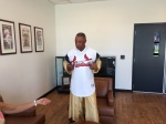 Ozzie Smith - The Wizard - readies for his scene as our hero...