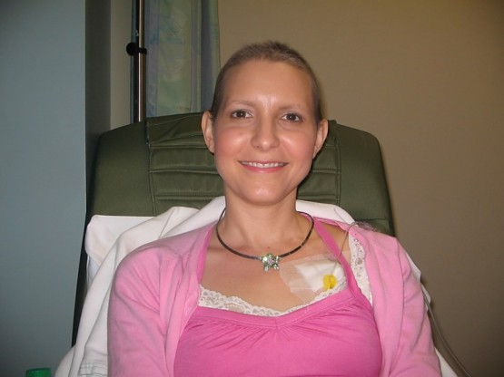 Melody after her last Chemo treatment in February 2010.