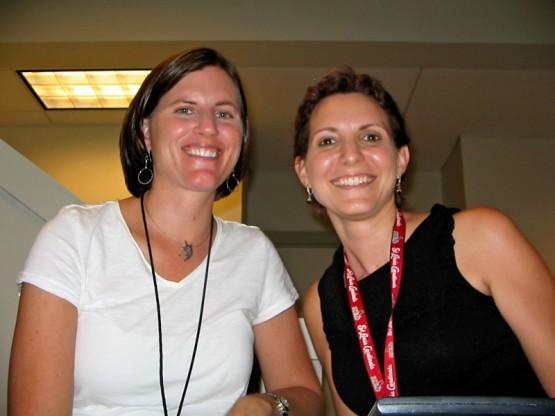 Monica Barlow & Melody Yount in Washington DC during the 2010 season.