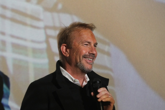 """Kevin Costner introduces his new film """"Black or White"""" at a  special screening at Ronnie's 20 Cine in South County"""
