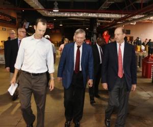 Cardinals Team President Bill DeWitt III, Commissioner Bud Selig, and Cardinals Chairman & CEO Bill DeWitt Jr. tour Busch Stadium