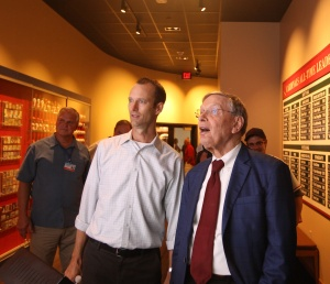 Commissioner Selig enjoys a tour of the Cardinals Museum with Cardinals Team President Bill DeWitt III
