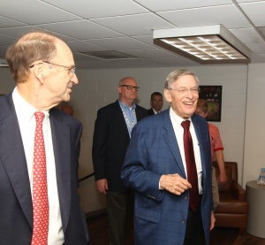 Commissioner Selig & Bill DeWitt Jr. enjoy a laugh while touring the ballpark