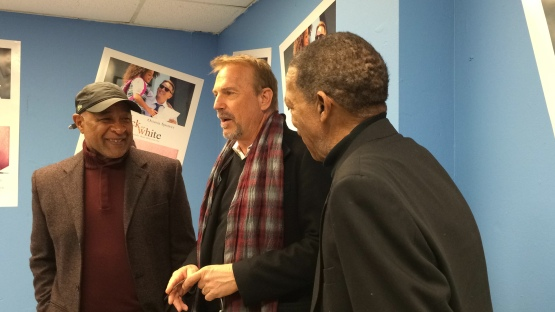 Kevin Costner talks with Ozzie Smith and Ted Savage about his love of baseball
