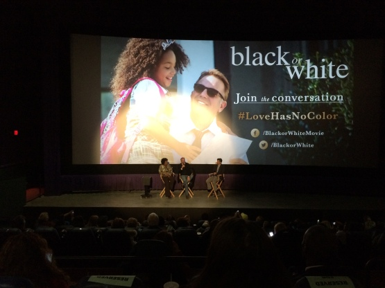 """Kevin Costner takes questions after a screening of his new film """"Black or White"""""""