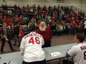 You never know who will show up at the Cardinals Caravan