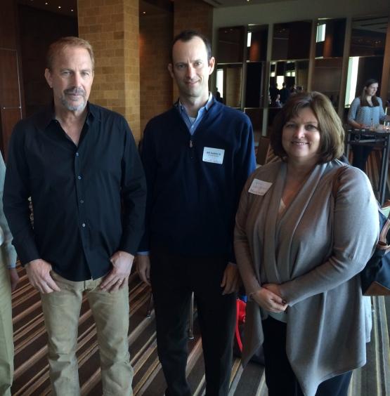 Kevin Costner, Bill DeWitt & Julie Laningham