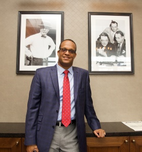 Ernest Jones, son of Dr. Ralph Waldo Emerson Jones, Jr., in the Branch Rickey Room in Cardinals Nation.